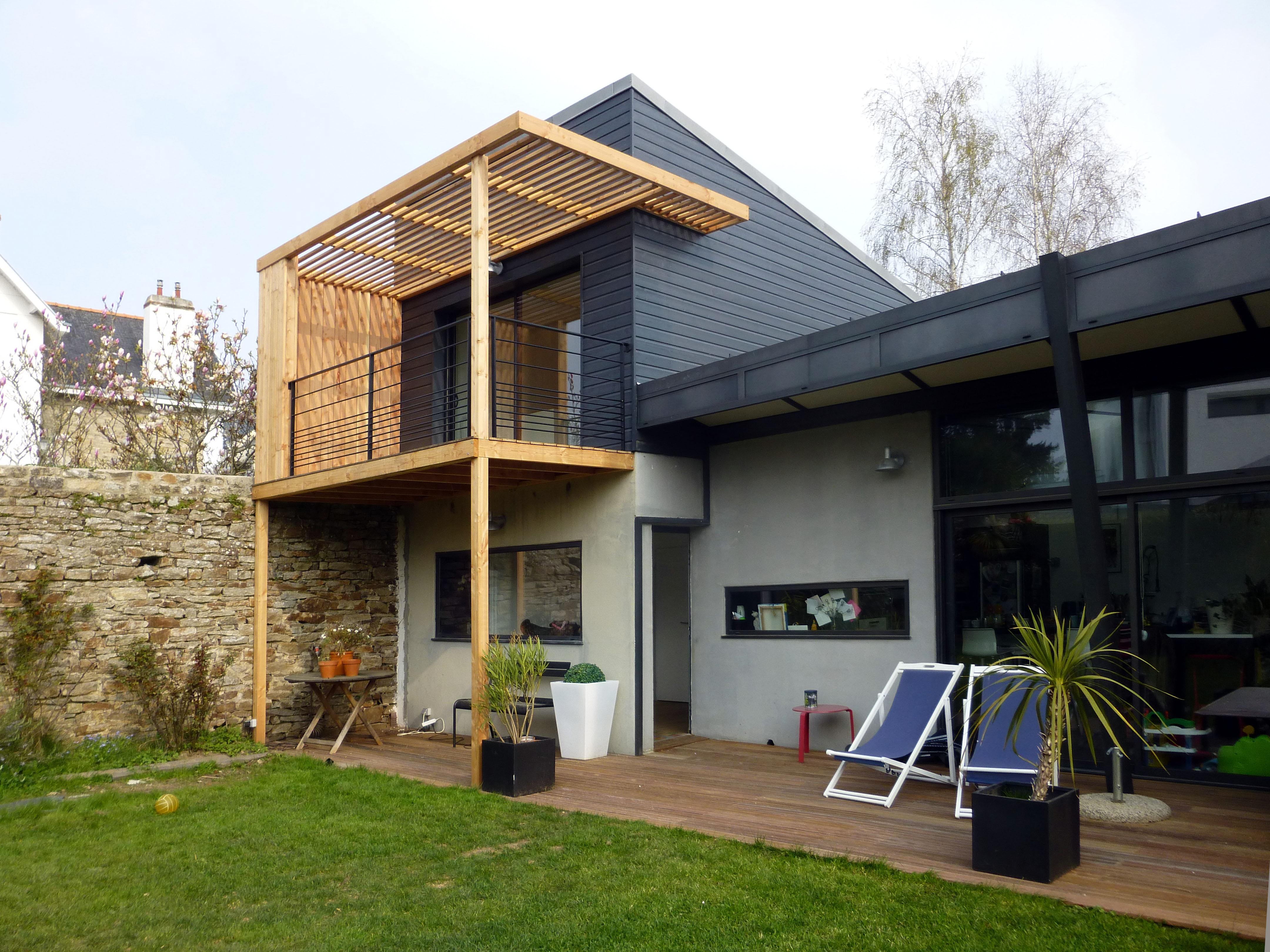 surélévation de maison en bois