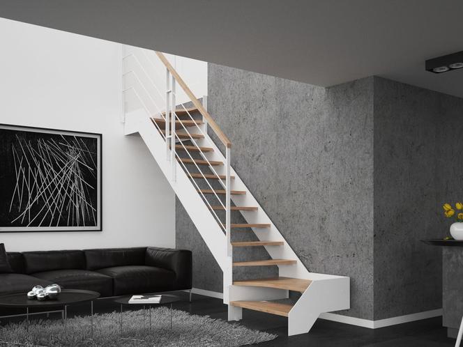 Un escalier en forme de Z pour gagner de la place